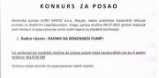 EURO-KANTIĆ: Potreban radnik na benzinskoj pumpi